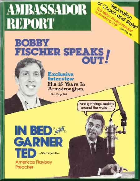 Bobby Fischer Speaks Out!