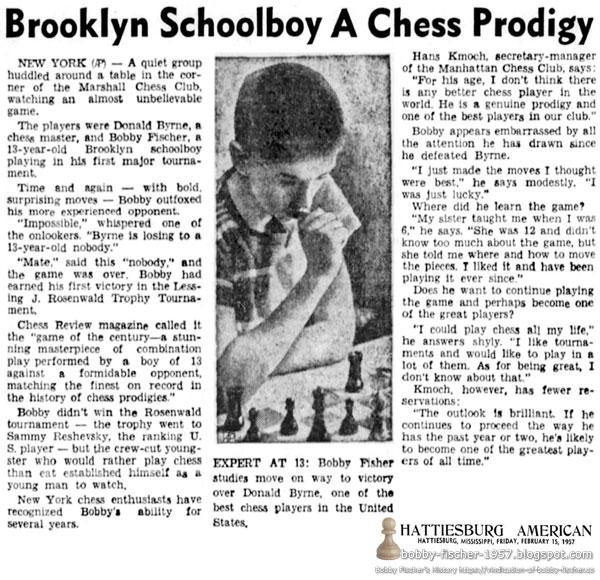 Brooklyn Schoolboy A Chess Prodigy
