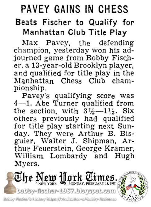Bobby Fischer - Chess: 1957