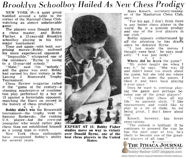 Brooklyn Schoolboy Hailed As New Chess Prodigy