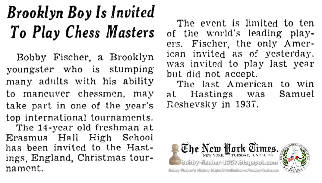 Brooklyn Boy Is Invited To Play Chess Masters