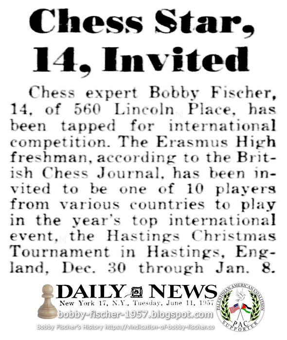 Chess Star, 14, Invited