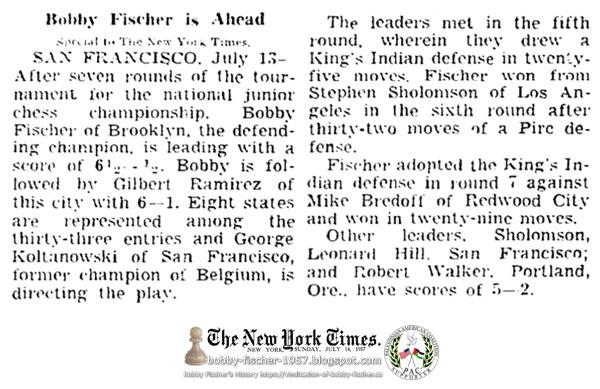Bobby Fischer is Ahead