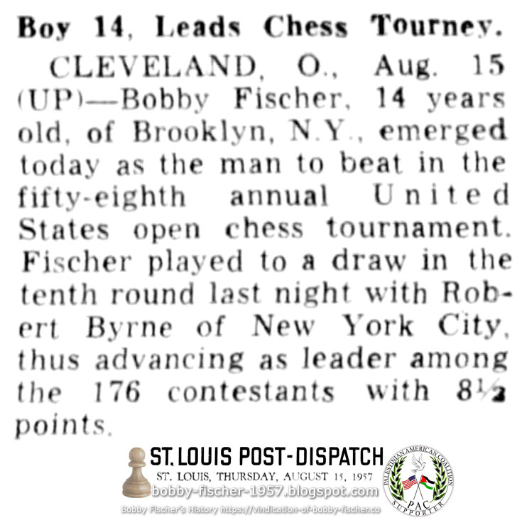 Boy 14, Leads Chess Tourney