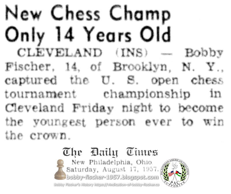 New Chess Champ Only 14 Years Old