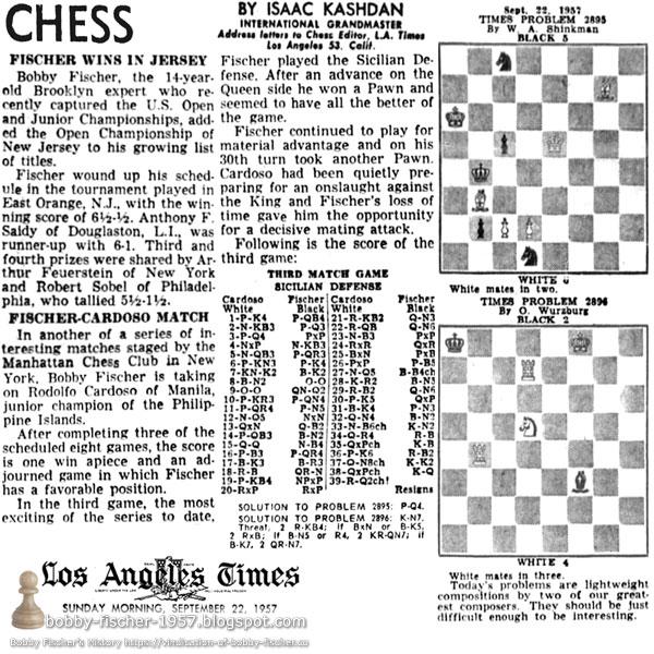 Fischer Wins In Jersey : Fischer Cardoso Match