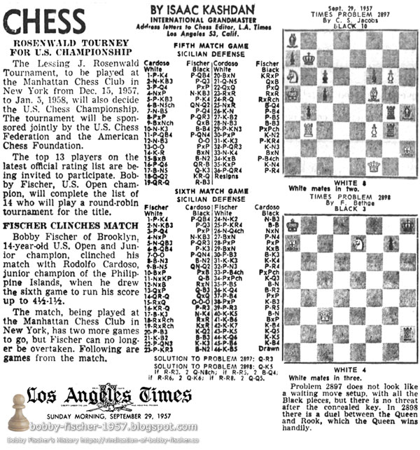 Fischer Clinches Match