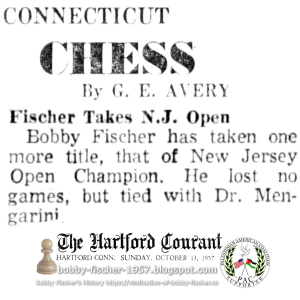Fischer Takes N.J. Open