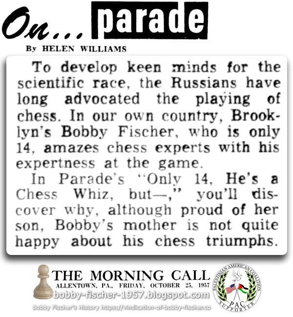 Bobby Fischer amazes chess experts