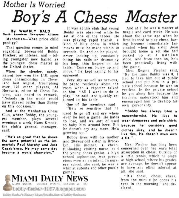 Mother Is Worried: Boy's A Chess Master