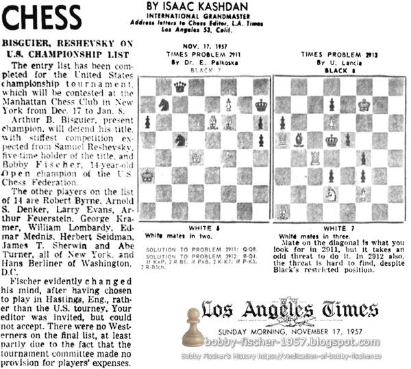 Fischer debates on Hastings vs. U.S. Tourney