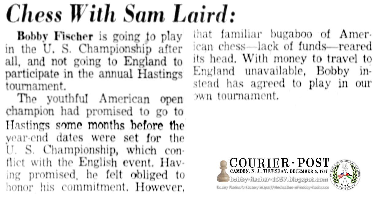 Bobby Fischer in U.S. Championship