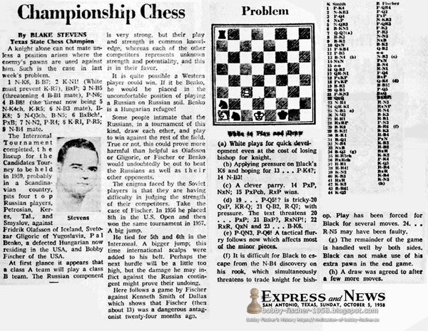 """Bobby Fischer, """"Dangerous Antagonist"""" at 13 Years Old"""