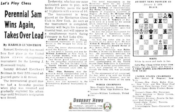 Perennial Sam Wins Again, Takes Over Lead