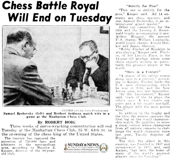 Chess Battle Royal Will End on Tuesday
