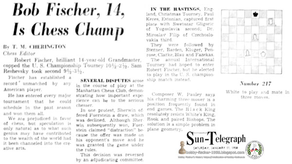 Fischer Regains Title Chess Lead