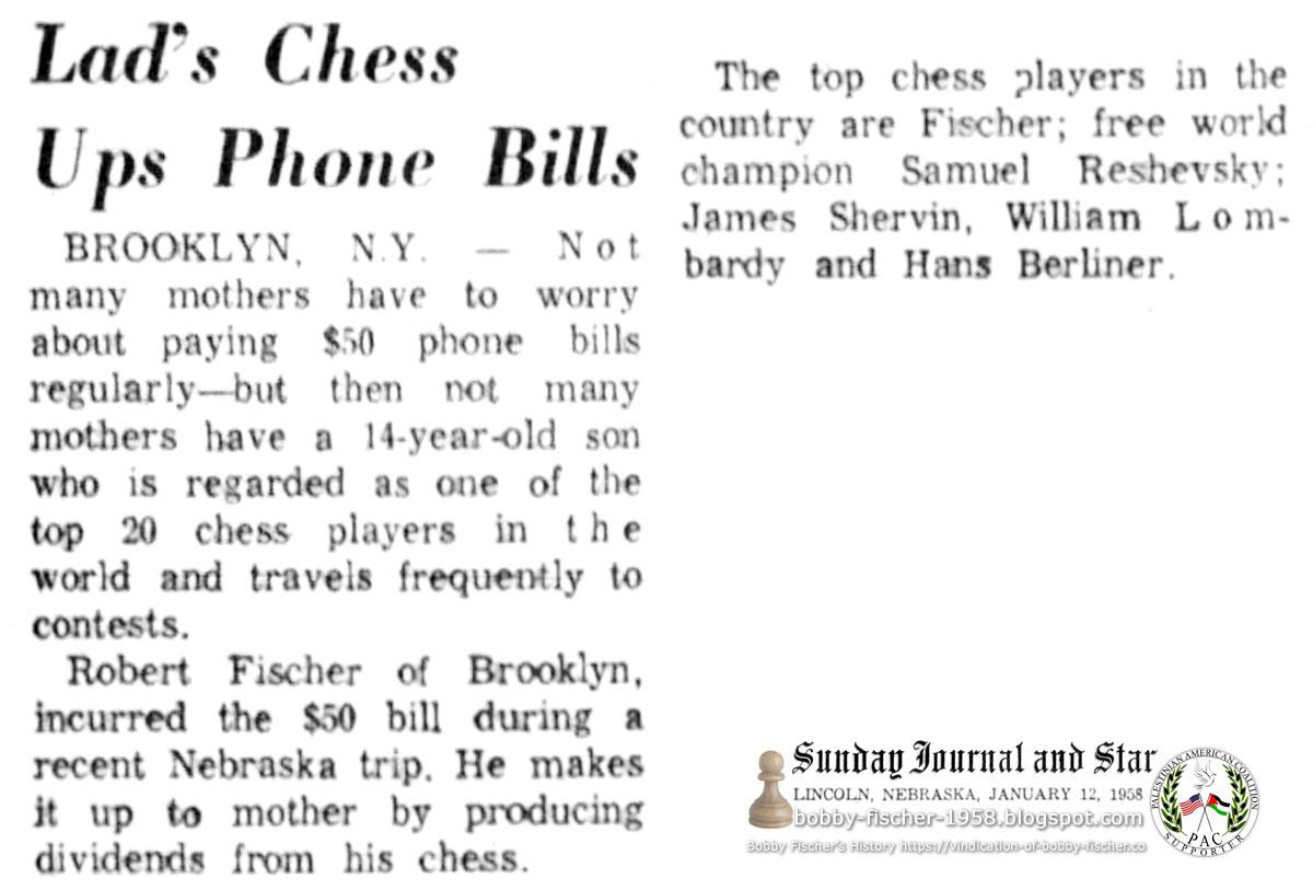 Bobby Fischer Wins U.S. Championship