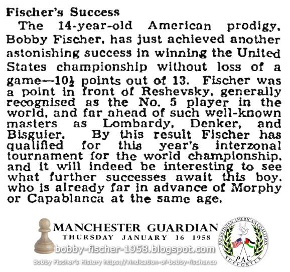 Fischer's Success