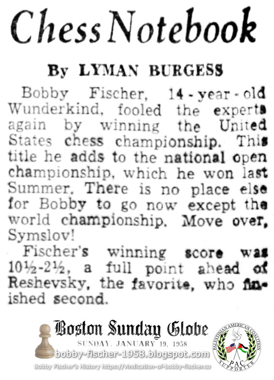 Bobby Fischer, 14-year-old Wunderkind