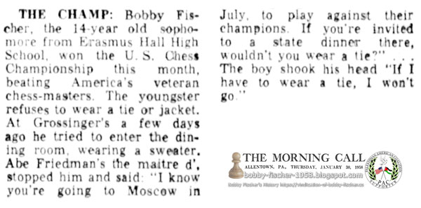 The Champ: 14-Year-Old Sophomore from Erasmus Hall High School, Bobby Fischer