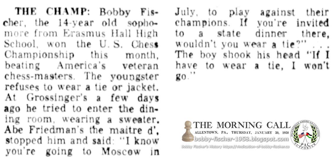 The Champ Bobby Fischer