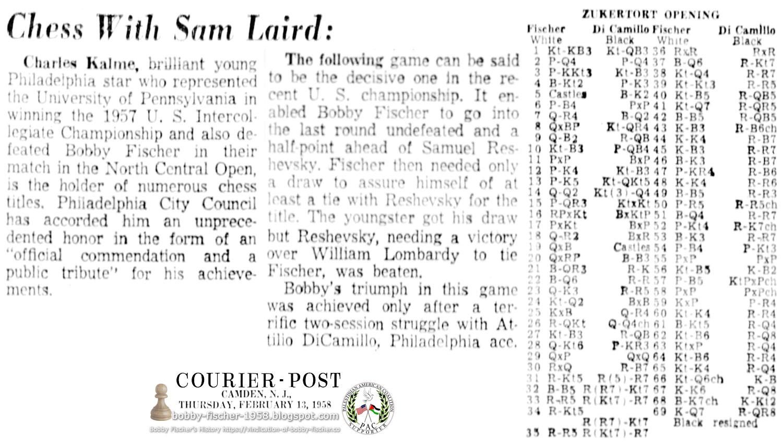 Bobby Fischer's Triumph Over Samuel Reshevsky