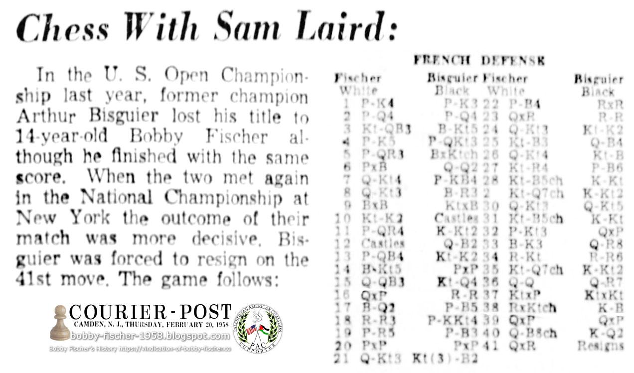 Bobby Fischer vs. Arthur Bisguier
