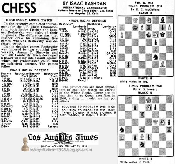 Reshevsky Loses Twice
