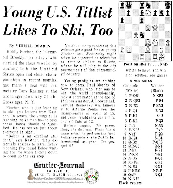 Young U.S. Titlist Likes To Ski, Too