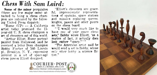 California Artist Promised 15-Year-Old Chess Champion a, Out of this World Set of Chessmen