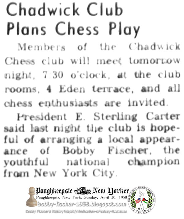 Chadwick Club Plans Chess Play