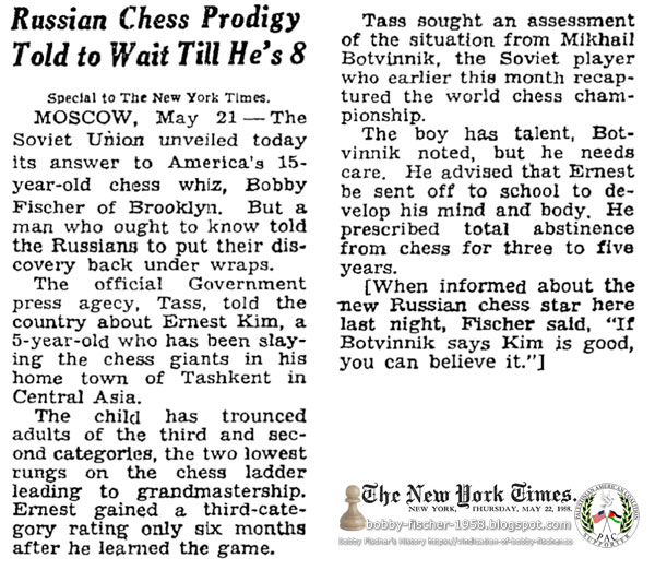 Russian Chess Prodigy Told to Wait Till He's 8