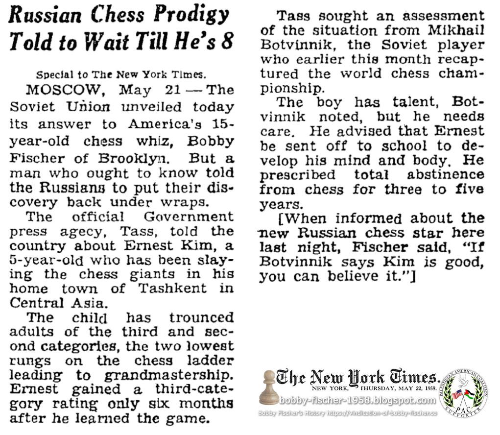 Bobby Fischer - Chess: 1958