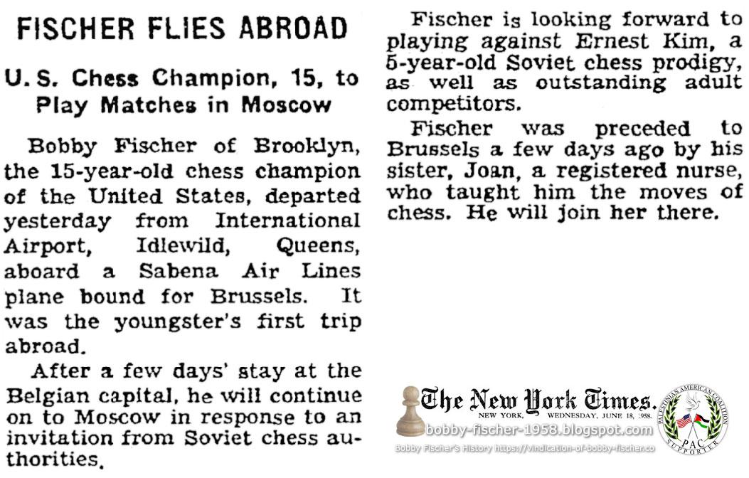 Fischer Flies Abroad
