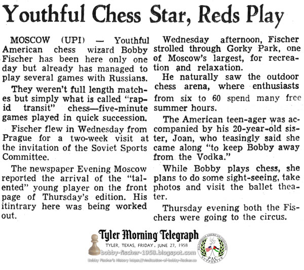 Youthful Chess Star, Reds Play