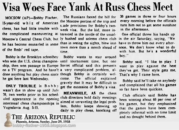 Visa Woes Face Yank At Russ Chess Meet