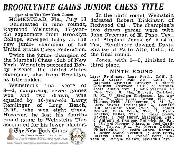 Brooklynite Gains Junior Chess Title