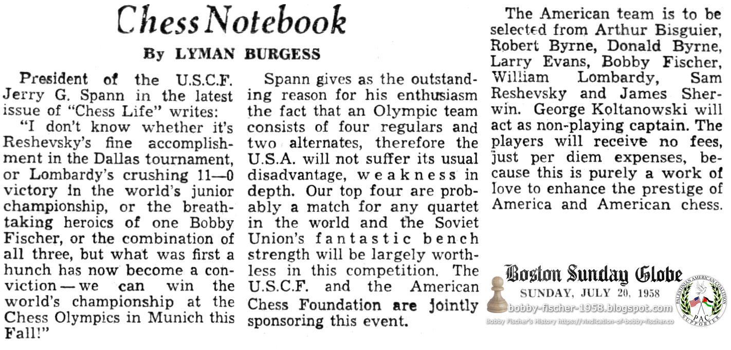 U.S. Olympic Chess Team Selection