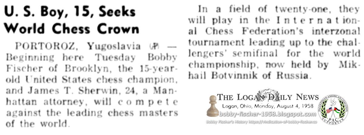 U.S. Boy, 15, Seeks World Chess Crown