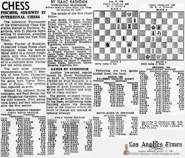 Fischer, Sherwin In Interzonal Chess