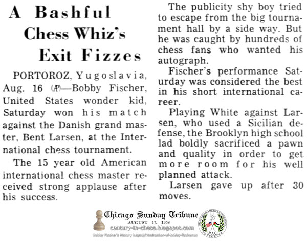 A Bashful Chess Whiz's Exit Fizzes
