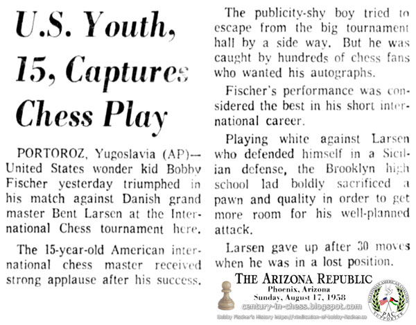 U.S. Youth, 15, Captures Chess Play