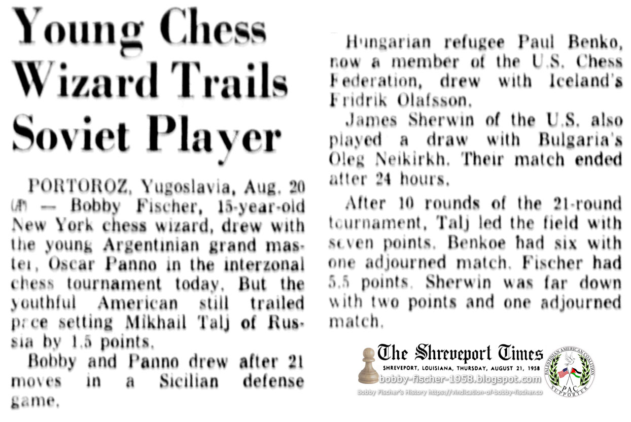 Young Chess Wizard Trails Soviet Player