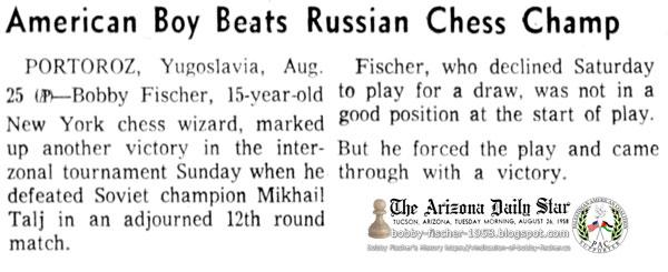 American Boy Beats Russian Chess Champ