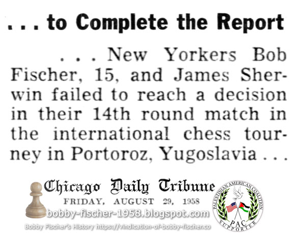 Bob Fischer and James Sherwin in 14th Round Match