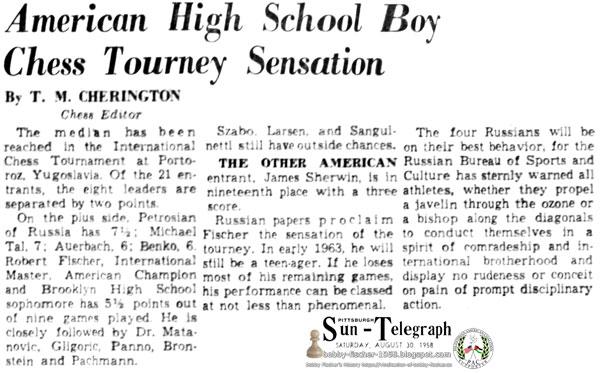 American High School Boy Chess Tourney Sensation