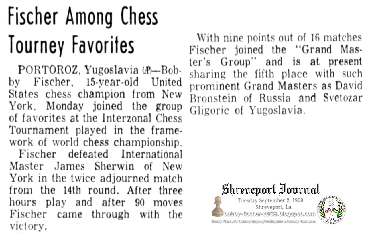 Fischer Gains on Chess Leaders