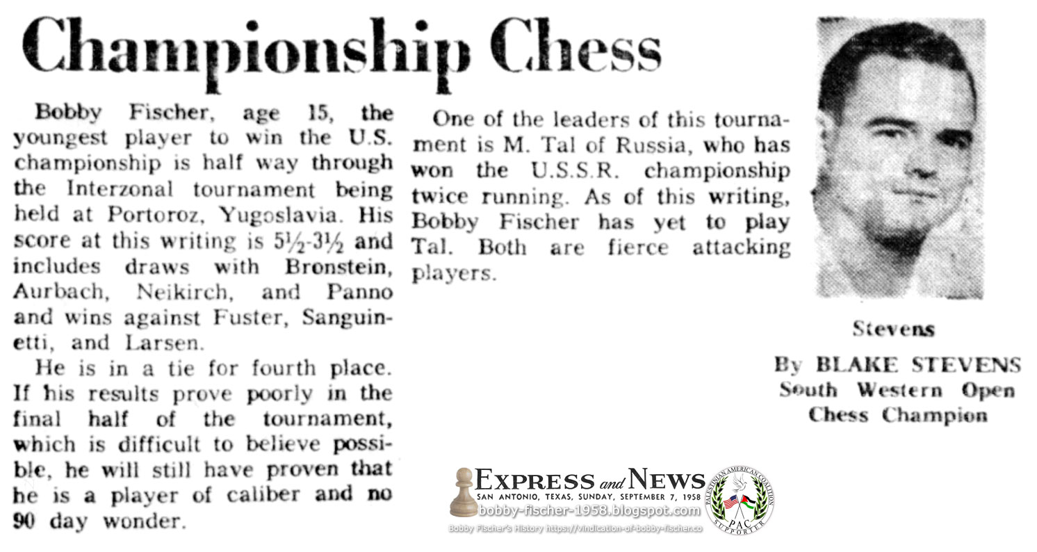 Championship Chess: Halfway through Tournament, Prospect on Fischer vs. Tal