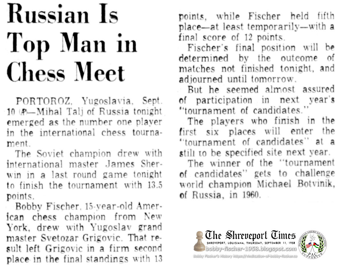 Russian Is Top Man in Chess Meet