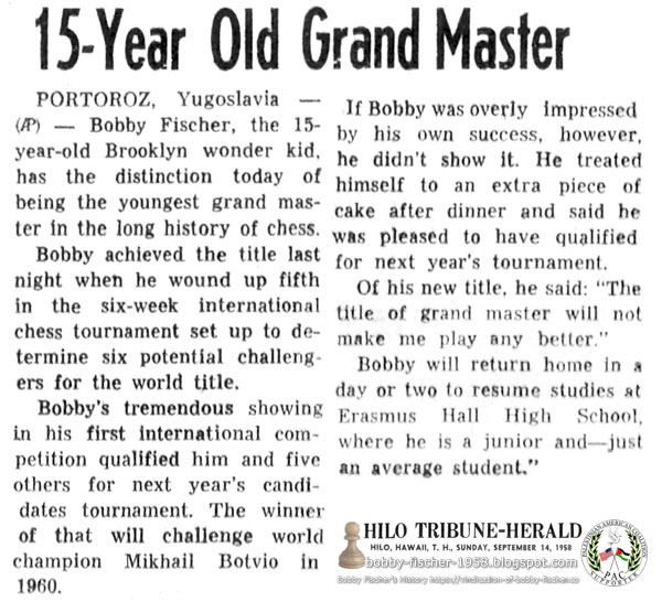15-Year-Old Grand Master